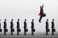 Job applicant soaring above the others because of skill set